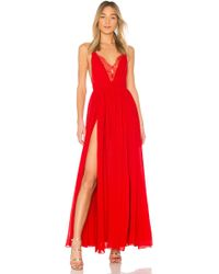 Michael Costello - X Revolve Justin Gown In Red - Lyst