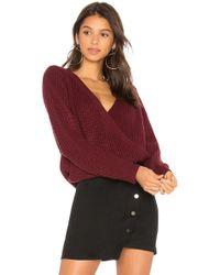 MINKPINK - Carmen Wrap Front Sweater - Lyst