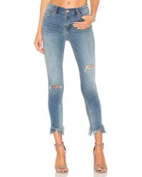 Free People - Great Heights Frayed Skinny Jean - Lyst