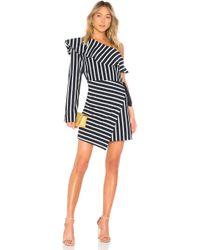 Goen.J - One Shoulder Striped Dress - Lyst