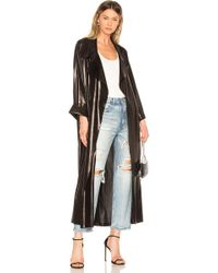 Norma Kamali - 80's Flared Trench In Black - Lyst