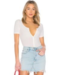 Getting Back to Square One - Henley Bodysuit - Lyst