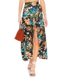 Band Of Gypsies - Peony Floral Wrap Skirt - Lyst
