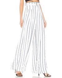 Kendall + Kylie - Pinstripe Wide Leg Pant - Lyst