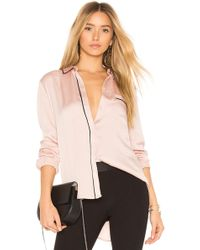 BCBGeneration - Piped Pyjama Shirt - Lyst