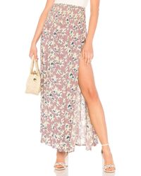 Tiare Hawaii - Rock Your Soul Maxi Skirt In Mauve. - Lyst