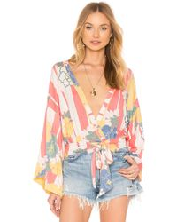 Free People - That's A Wrap Printed Top - Lyst