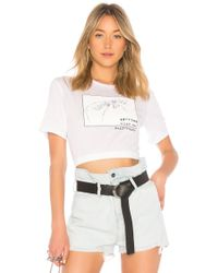 Baja East - Getting High On Daddys Supply Tee In White - Lyst
