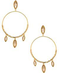 Gorjana - Palisades Drop Hoops In Metallic Gold. - Lyst