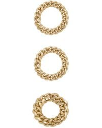 Joolz by Martha Calvo - Chain Link Rings In Metallic Gold - Lyst