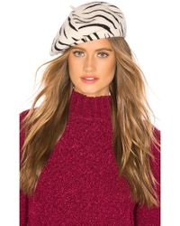 Lyst - Brixton Audrey Straw Beret in Brown d3d123d70940