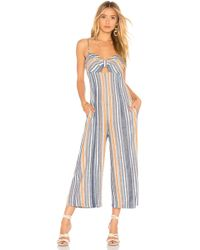 BCBGeneration - Ruched Culotte Jumpsuit In Blue - Lyst