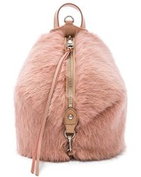 Rebecca Minkoff - Mini Julian Convertible Faux Fur Backpack - Lyst