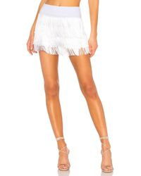 Norma Kamali - All Over Fringe Shorts In White - Lyst
