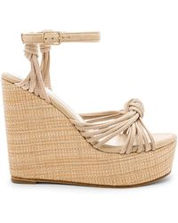RAYE - Gina Wedge In Beige - Lyst