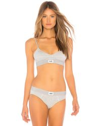 Les Girls, Les Boys - Jersey Triangle Bra In Gray - Lyst