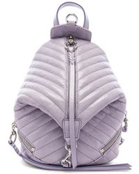 Rebecca Minkoff - Quilted Mini Julian Backpack In Lavender. - Lyst