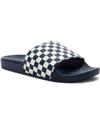 Vans - Checkerboard Slide-on In Blue - Lyst