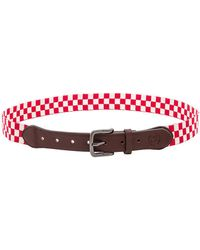 Stussy - Checker Belt In Red. - Lyst