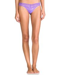 Hanky Panky - Low Rise Thong In Blue. - Lyst