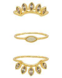 Gorjana - Rumi Burst Ring Set In Metallic Gold - Lyst