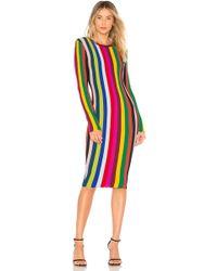 MILLY - Chevron Vertical Stripe Dress - Lyst