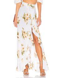Flynn Skye - Monica Maxi Skirt In White - Lyst