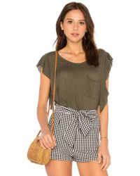 Free People - So Easy Tee In Army - Lyst
