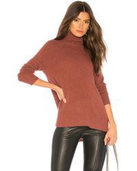White + Warren - Raglan Standneck Sweater - Lyst