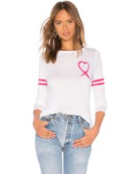 Chaser - Vintage Jersey Love Charity Long Sleeve Tee In White - Lyst