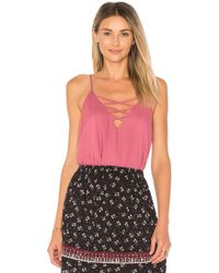 Ella Moss - Lace Up Cami - Lyst