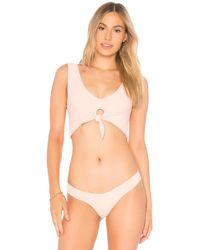 Montce Swim - Kim Bikini Top In Pink - Lyst