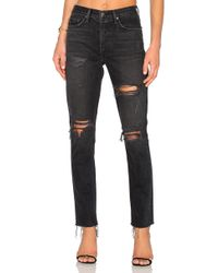 GRLFRND - Karolina High-rise Skinny Jean With Butt Slit - Lyst