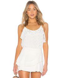 Krisa - Ruffle Cami In White - Lyst