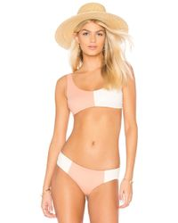 Tori Praver Swimwear - Deja Bikini Top In Rose - Lyst