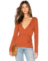 MINKPINK - All Wrapped Up Top In Rust - Lyst