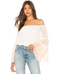 1.STATE - Off Shoulder Colorblock Top - Lyst