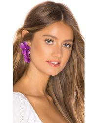 Jennifer Behr - Faye Earrings In Purple. - Lyst