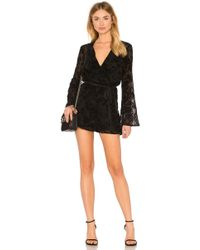 BCBGeneration - Bell Sleeve Lace Romper In Black - Lyst