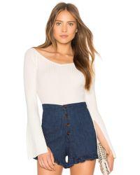 BCBGMAXAZRIA - Zoee Off Shoulder Sweater In Gardenia In White - Lyst