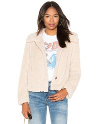 Sanctuary - I Feel Luv Faux Sherpa Jacket In Beige - Lyst