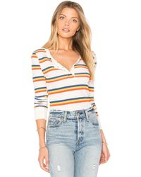Wildfox - Cabin Stripes Bodysuit - Lyst