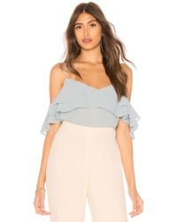 Line & Dot - Gemma Top In Baby Blue - Lyst