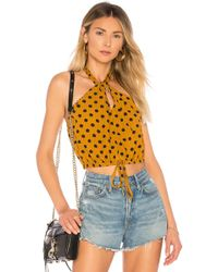 House of Harlow 1960 - X Revolve Alana Halter In Yellow - Lyst