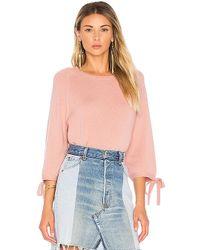 Velvet By Graham & Spencer - Nicolette Pullover Sweater In Pink - Lyst