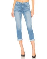 PAIGE - High Rise Jimmy Jimmy Crop - Lyst