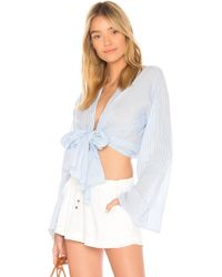 Young Fabulous & Broke - Free Fall Top In Baby Blue - Lyst