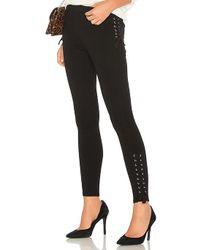 Bobi - Luxe Lace Up Leggings In Black - Lyst