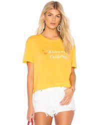 Monrow - California Athletic Tee In Yellow - Lyst