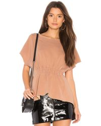 Stateside - French Terry Ruched Tee - Lyst